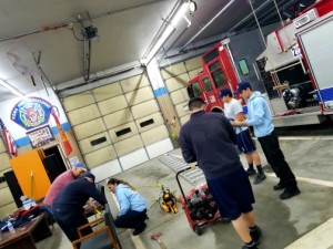 Cadets working on Ropes & Knots during academy
